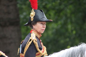 Princess Anne at the Queen's Birthday Parade 2013
