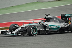 Hamilton in his Mercedes