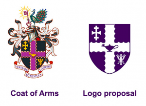Screenshot of the Coat of Arms and proposed new logo from the Loughborough University website, the link can be found below.