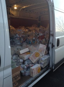 The van ready for the evening drop offs after half had already been delivered!