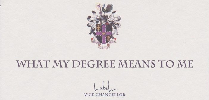 What my degree means to me?