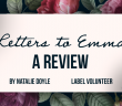 The title 'letters to Emma' is set upon a neutral pink rectangle which is engulfed by a variety of flowers.