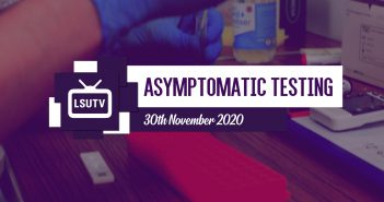 newsflash graphic with text 'asymptomatic testing, 30th November 2020'