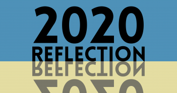text saying '2020 reflection', reflected on a yellow background